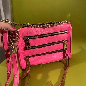 Rebecca Minkoff neon pink Crossbody